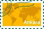 Briefmarke der Stadt Ankara