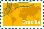 Briefmarke der Stadt Brasília