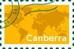 Briefmarke der Stadt Canberra