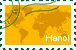 Briefmarke der Stadt Hanoi