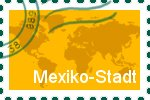 Briefmarke der Stadt Mexiko-Stadt