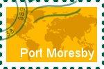 Briefmarke der Stadt Port-Moresby