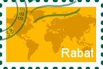 Briefmarke der Stadt Rabat