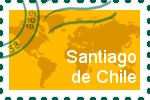 Briefmarke der Stadt Santiago de Chile