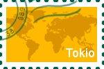 Briefmarke der Stadt Tokio