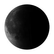 Mond in abnehmender Mondphase